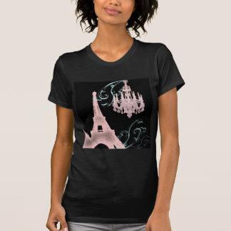 Pink Chandelier Paris Wedding SaveTheDate T-shirt