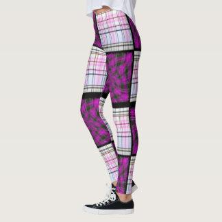 Pink Checkered Plaid Leggings