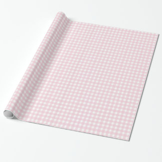 Pink checkered wrapping wrapping paper