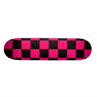 Pink Checks 18.1 Cm Old School Skateboard Deck
