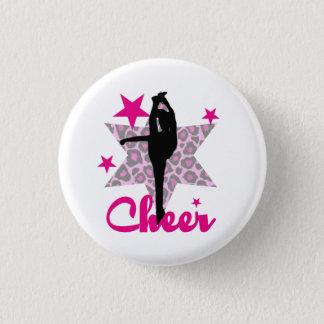 Pink Cheerleader 3 Cm Round Badge