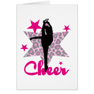 Pink Cheerleader Card