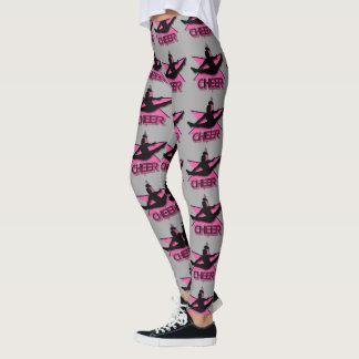 Pink cheerleader design leggings