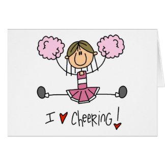 Pink Cheerleader Greeting Card