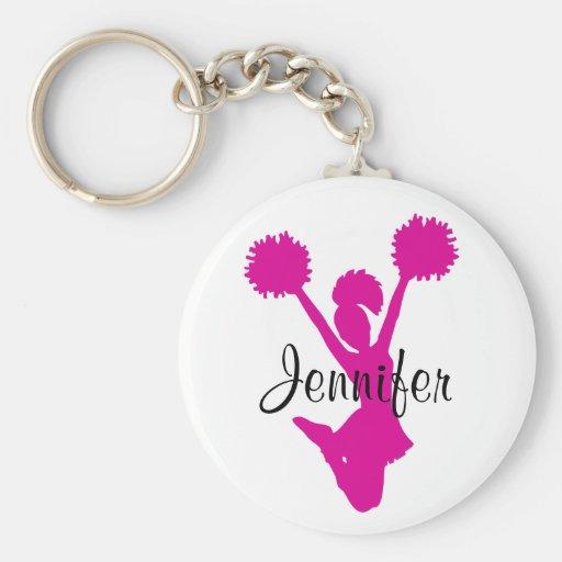 Pink Cheerleader Key Chain
