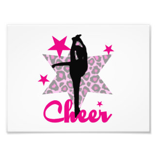 Pink Cheerleader Photo Print
