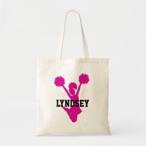 Pink Cheerleader Tote Bag