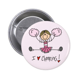Pink Cheerleader Tshirts and Gifts 6 Cm Round Badge