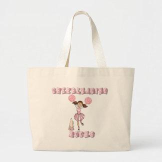 Pink Cheerleading Rocks Tote Bags