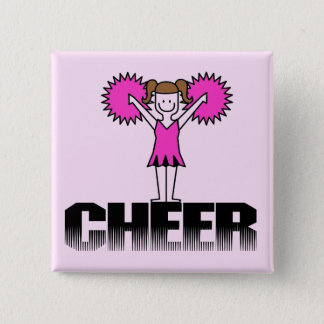 Pink Cheerleading T-shirts and Gifts 15 Cm Square Badge