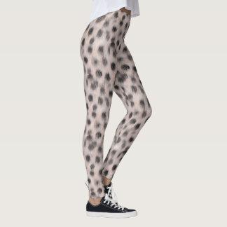 Pink Cheetah faux fur leggings