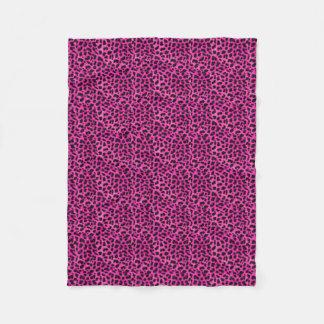 Pink Cheetah Fleece Blanket