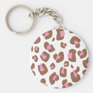 Pink Cheetah Key Ring
