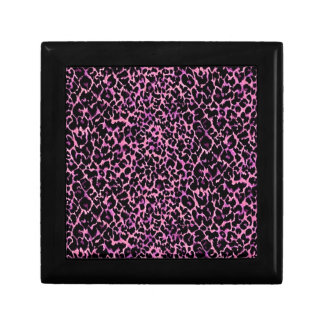 Pink Cheetah Pattern Gift Box