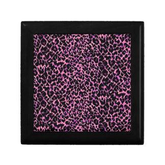 Pink Cheetah Pattern Small Square Gift Box