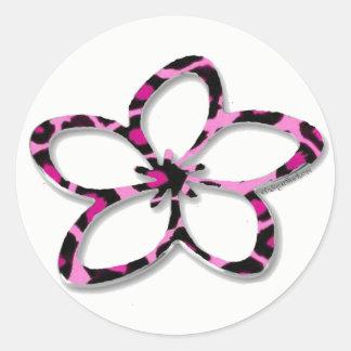 Pink Cheetah Plumeria (Frangipani) Sticker