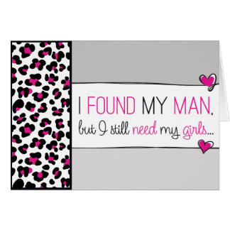 Pink Cheetah Print Will you be my Bridesmaid? Card