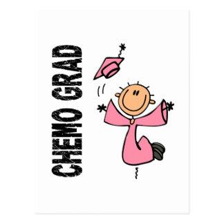 Pink CHEMO GRAD 1 (Breast Cancer) Postcard