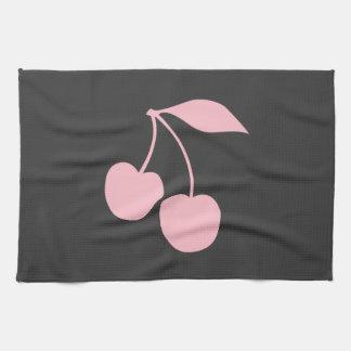 Pink Cherries Tea Towel