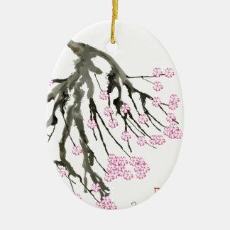 Pink Cherry Blossom 24, Tony Fernandes Ceramic Oval Decoration