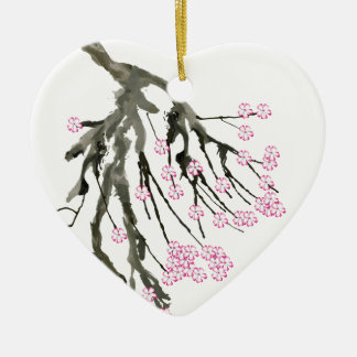 Pink Cherry Blossom 24, Tony Fernandes Christmas Ornament