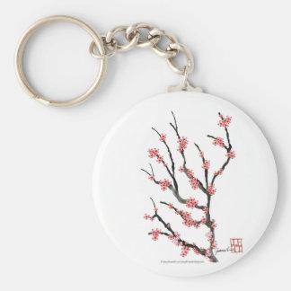 Pink Cherry Blossom 25, Tony Fernandes Basic Round Button Key Ring