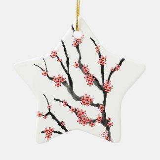 Pink Cherry Blossom 25, Tony Fernandes Ceramic Star Decoration