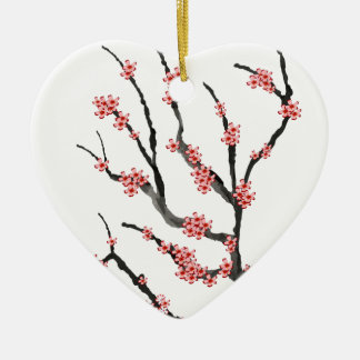 Pink Cherry Blossom 25, Tony Fernandes Christmas Ornament