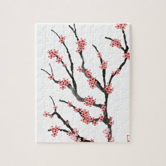 Pink Cherry Blossom 25, Tony Fernandes Jigsaw Puzzle