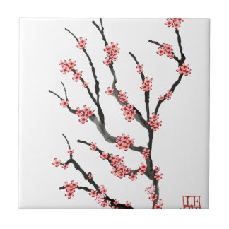 Pink Cherry Blossom 25, Tony Fernandes Small Square Tile