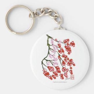 Pink Cherry Blossom 26, Tony Fernandes Basic Round Button Key Ring