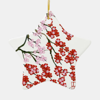 Pink Cherry Blossom 26, Tony Fernandes Ceramic Star Decoration
