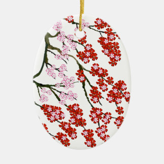 Pink Cherry Blossom 26, Tony Fernandes Christmas Ornament