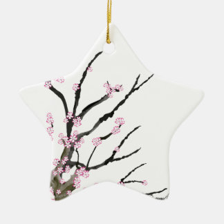 Pink Cherry Blossom 27, Tony Fernandes Ceramic Star Decoration