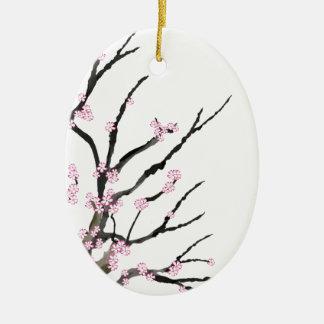 Pink Cherry Blossom 27, Tony Fernandes Christmas Ornament