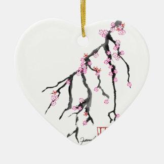 Pink Cherry Blossom 28, Tony Fernandes Ceramic Heart Decoration