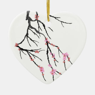 Pink Cherry Blossom 29, Tony Fernandes Ceramic Heart Decoration