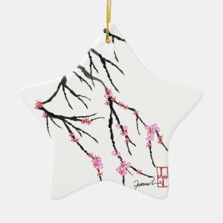 Pink Cherry Blossom 29, Tony Fernandes Ceramic Star Decoration