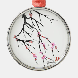 Pink Cherry Blossom 29, Tony Fernandes Christmas Ornament