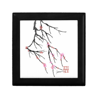 Pink Cherry Blossom 29, Tony Fernandes Small Square Gift Box