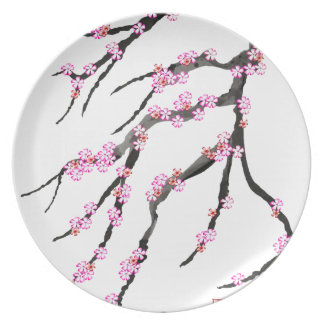 Pink Cherry Blossom 31, Tony Fernandes Plate