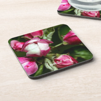 Pink Cherry Blossom Beverage Coasters