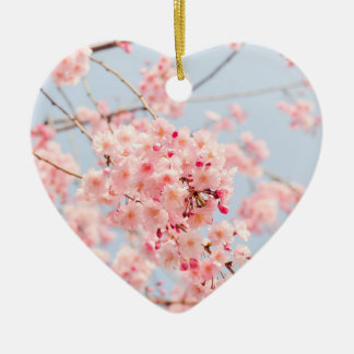 Pink Cherry Blossom Christmas Ornament