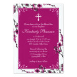 Pink Cherry Blossom Confirmation Invitation