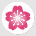 Pink Cherry Blossom Envelope Seal Stickers