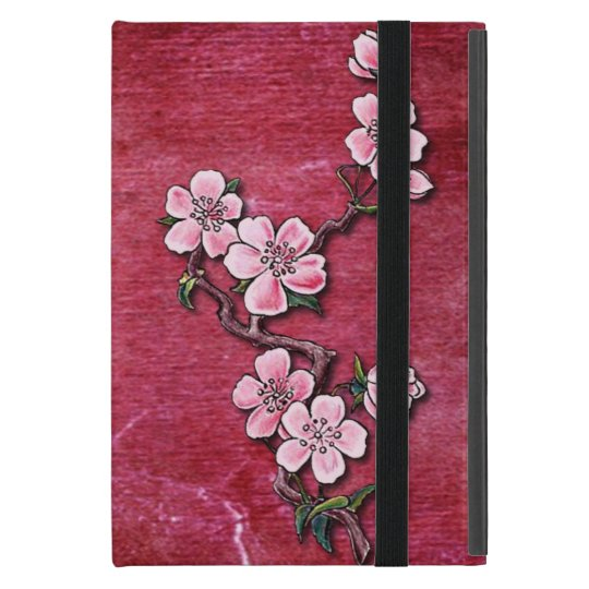 Pink Cherry Blossom Floral Tattoo Design iPad Mini