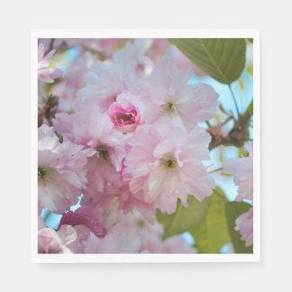 Pink Cherry Blossom Flower Spring Easter Napkin Paper Serviettes