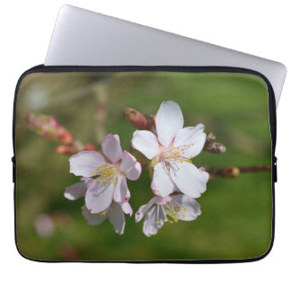 Pink cherry blossom computer sleeve