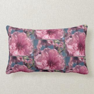 Pink cherry blossom pattern lumbar cushion