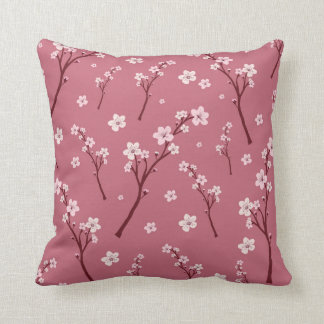 Pink cherry blossom pillow
